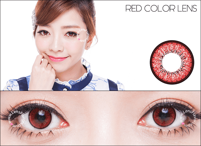 eos new adult red circle lenses