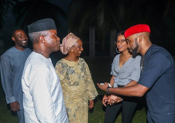 osinbajo meets celebrities