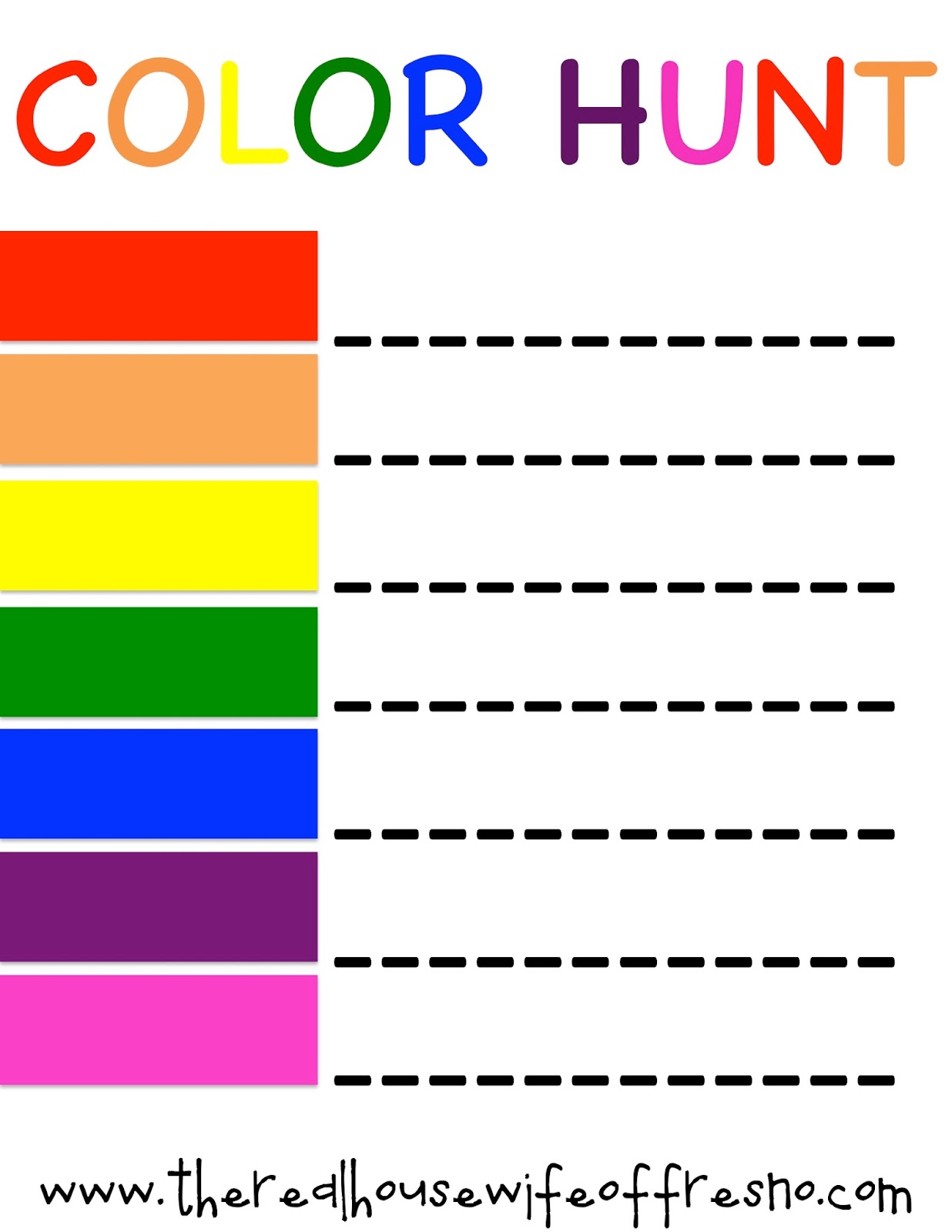 The Real Housewife of Fresno: Fun & Easy Color Activities