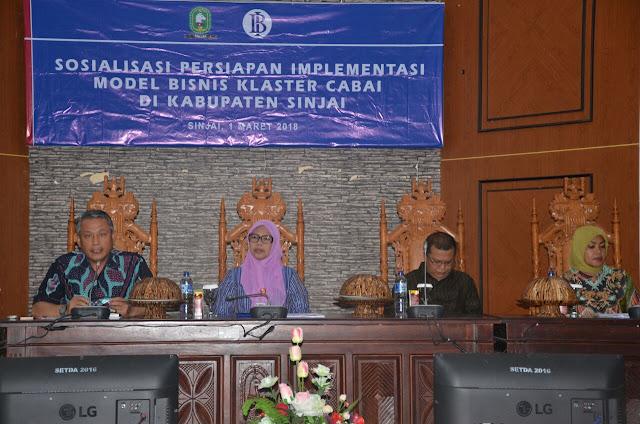 Asisten II Buka Sosialisasi Persiapan  Implementasi Model Bisnis Klaster