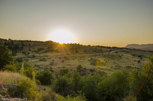 Sunset in village Rapesh, Mariovo