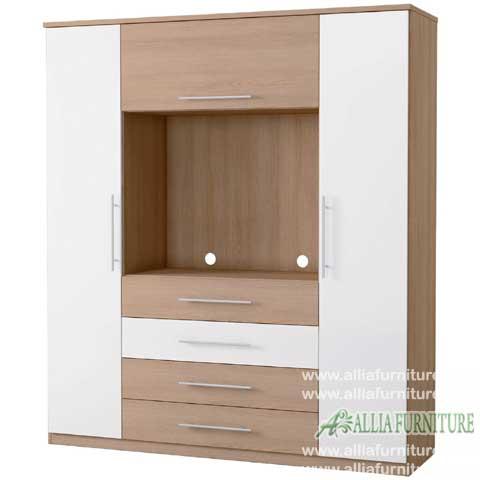 lemari minimalis baju unit tv ocean