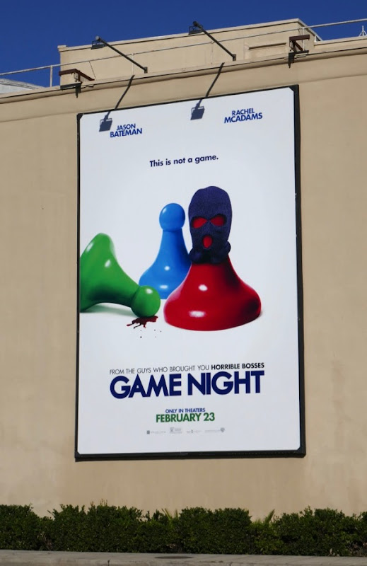 Game Night movie billboard