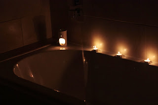 Home spa with candles