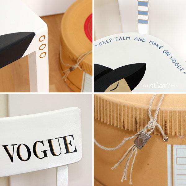 Details Stuhl on vogue und Hutschachtel