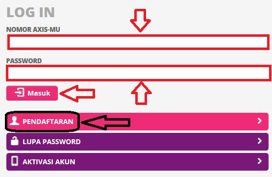 Login Website Axis Agar bisa cek kuota axis