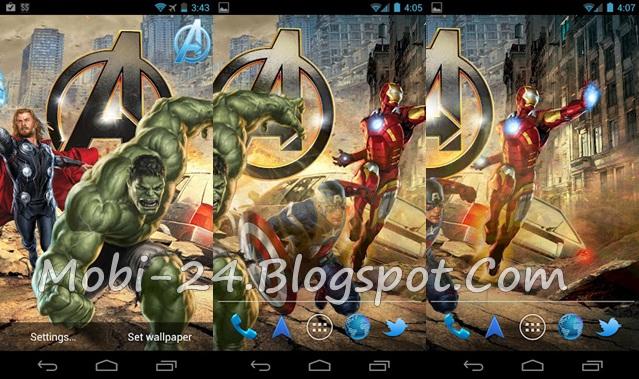 Avenger Wallpaper For Android: Marvel Avengers Live Wallpaper For Android Full Version