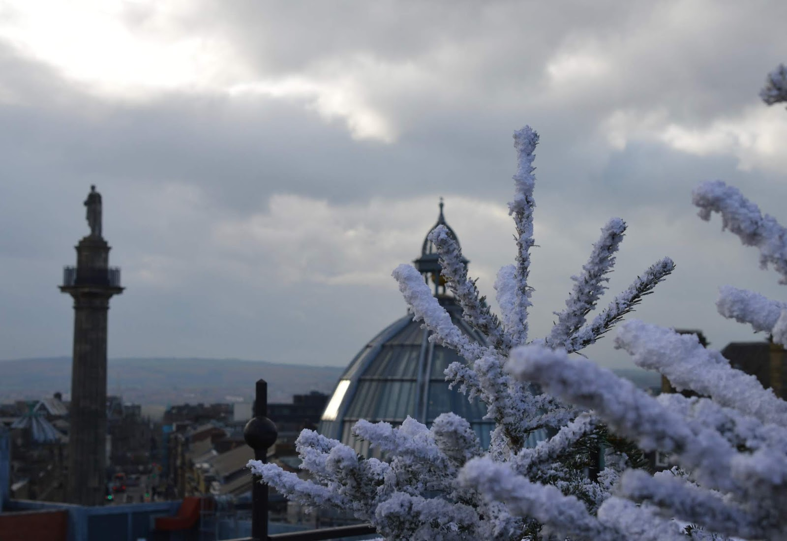 Santa on the Rooftop at Fenwick Newcastle   A Review  - Quayside views from Fenwick roof