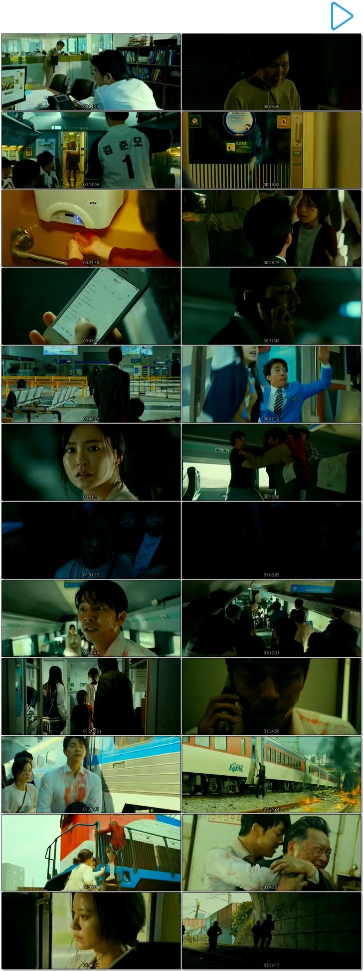 Screen Shot Of Train to Busan 2016 Korean Movie Hindi Dubbed Free Download 100MB HEVC For Mobiles