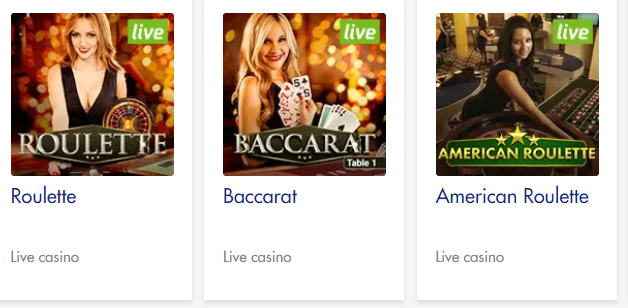 Live Roulette, Baccarat and Blackjack at Slots Village Casino