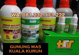 Jual SOC HCS, KINGMASTER, BIOPOWER Siap Kirim Gunung Mas Kuala Kurun