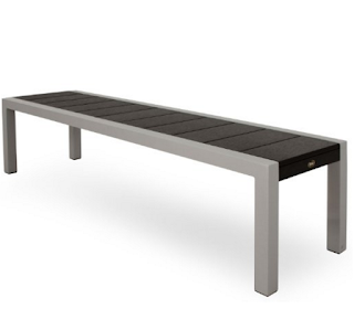 Trex TX3810-11CB Surf City Bench 68-Inch Textured Silver Charcoal Black