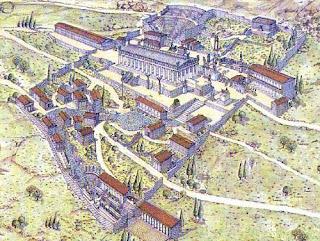 Mapa de Cómo era Delfos.