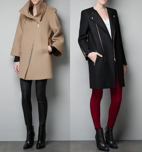 J&F Magazine: Fashion Trends, Abrigos ZARA Otoño Invierno 2012