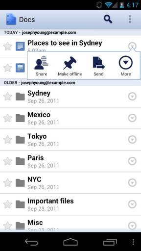 Google Drive Blog: Updates to Google Docs app for Android