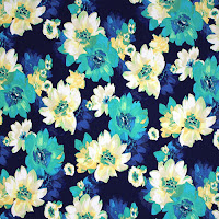 Teal Green Blue Floral