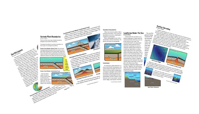 text passages plate tectonics