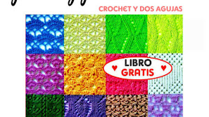 1400 Patrones Gratis de Motivos y Puntos Crochet y Dos Agujas