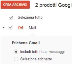 download intero archivio gmail