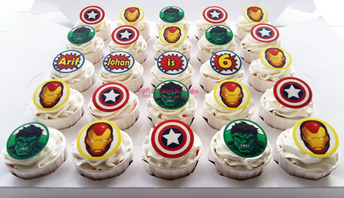 Superhero Cupcake