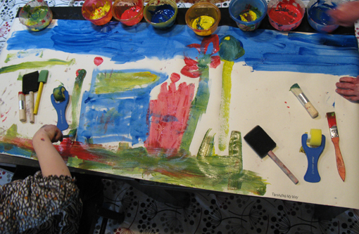 Threading My Way Tips for Mess Free Painting with Kids