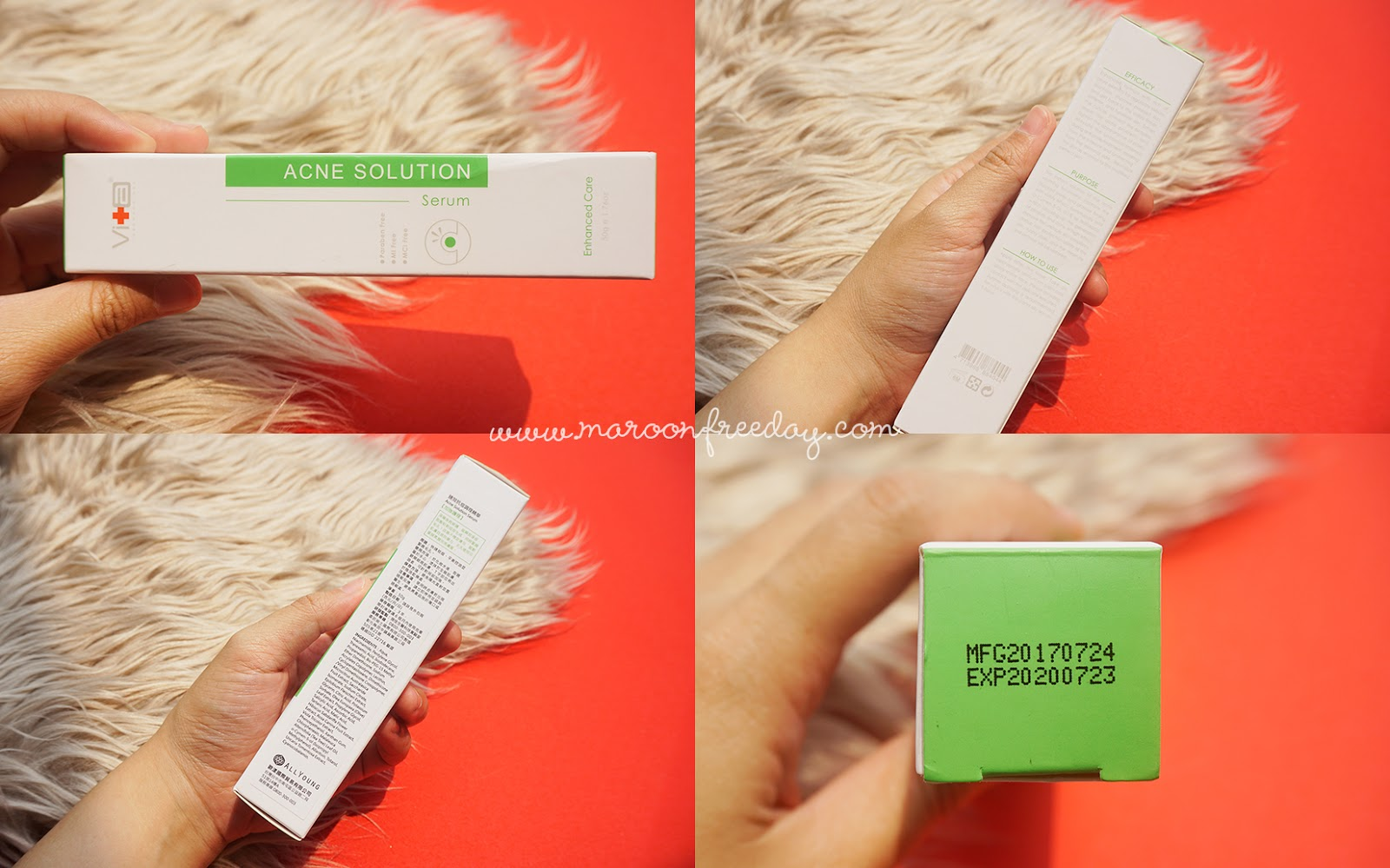 Packaging Swissvita Acne Solution Skin Balancing Serum