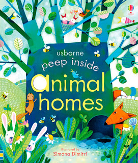 Cuentos sobre los animales salvajes: Peep inside animal homes de Usborne