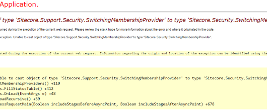 Sitecore Active Directory 1.3 Bug Reported: ProviderStatus throws error Unable to cast object of type 'Sitecore.Support.Security.SwitchingMembershipProvider' to type 'Sitecore.Security.SwitchingMembershipProvider'.
