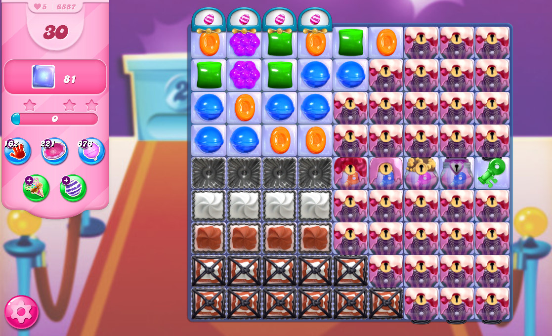 Candy Crush Saga level 6887