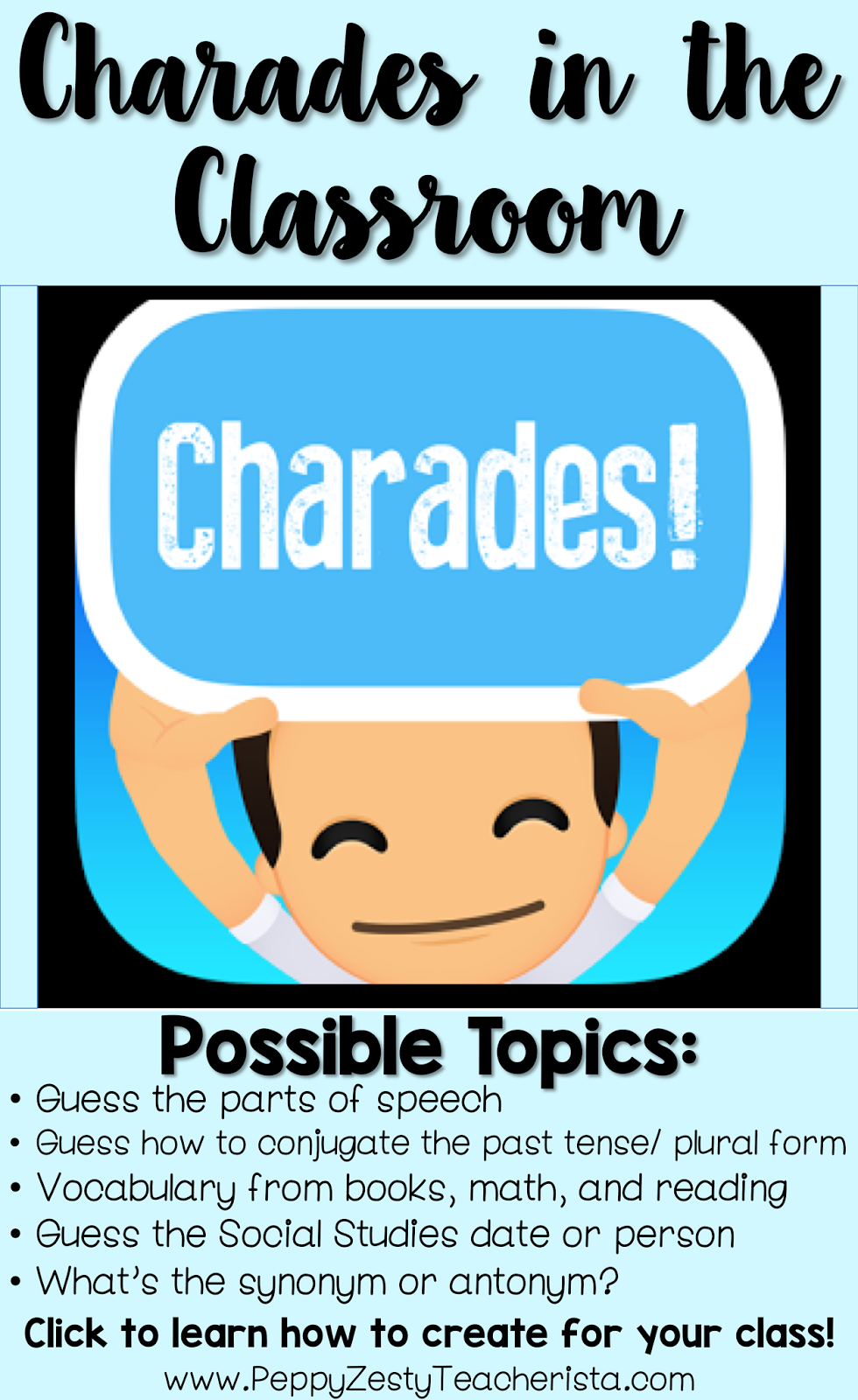 Technology in the Classroom: Charades App – Peppy Zesty Teacherista