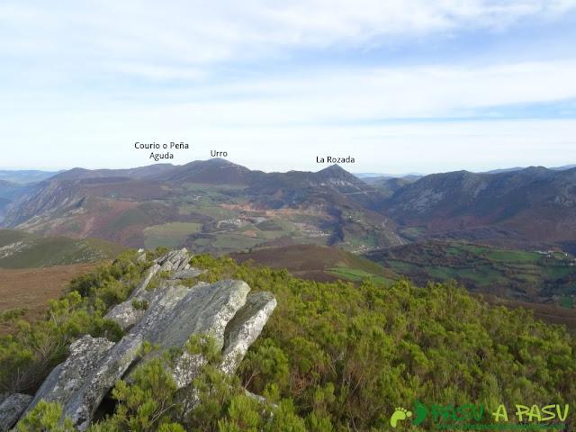 Dolmen de Merillés: El Urro y La Rozada desde Alto de Reigada