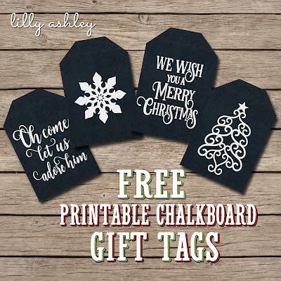 free chalkboard printable gift tags