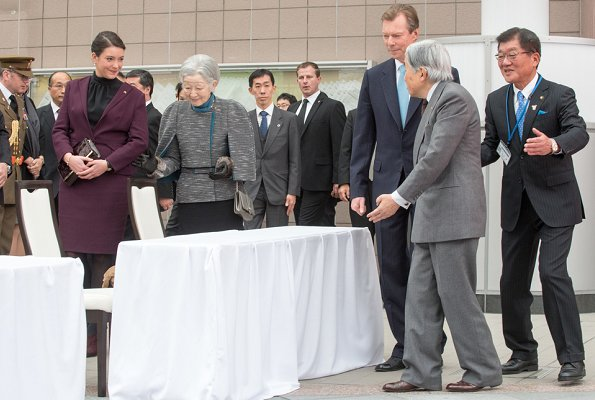 Grand Duke Henri, Princess Alexandra, Emperor Akihito, Empress Michiko visited JAXA's Tsukuba Space Center