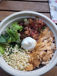 Rice bowl at Jaburritos at the LINQ Promenade in Las Vegas Nevada