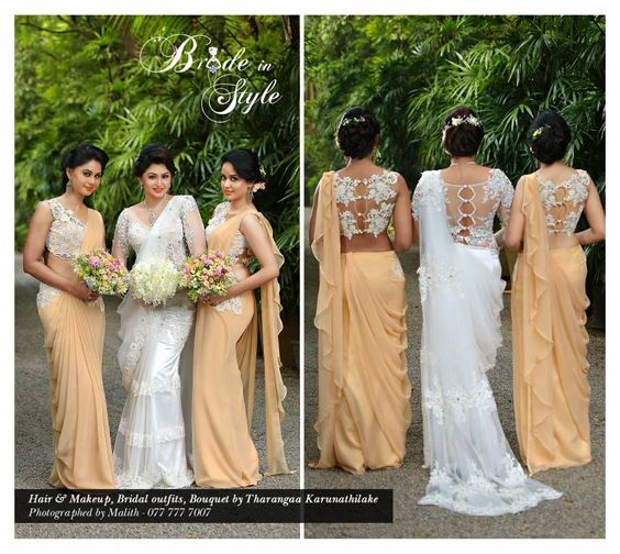 Wedding Hairstyle In Sri Lanka: Sparkling Fashion: Bridesmaid Sarees Inspirational Collection