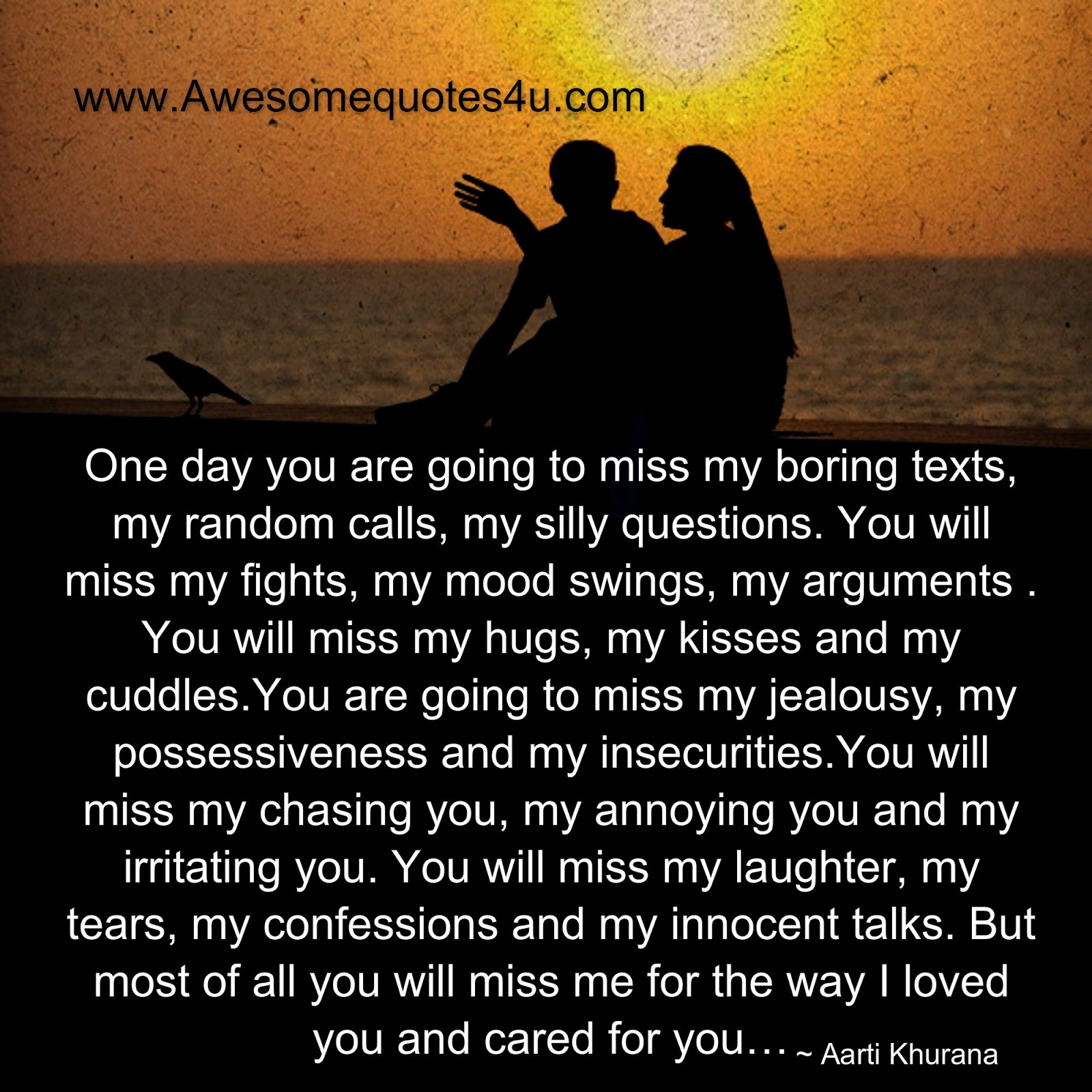 Awesome Quotes You Will Miss Me