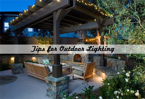 outdoor lighting design tips