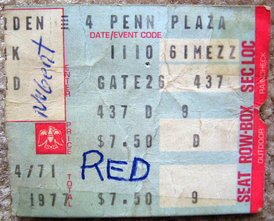 Ted Nugent, Lynyrd Skynyrd ticket stub Nov 10, 1977 at Madison Square Garden