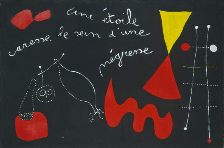 A Estrela Acaricia a Mama de uma Negra - Miró, Joan e suas principais pinturas