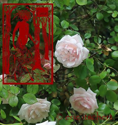censure, Illustration numérique, sceaux, faunes, faune nu, faune, autocensure, roses,