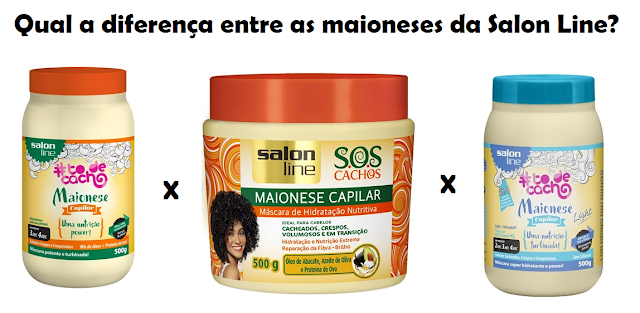 Qual a diferença entre as maioneses capilares da Salon Line?