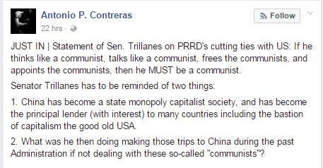 DLSU Prof Call Out Trillanes After He Called Duterte A Communist: 'What Was He Doing Making Those Trips to China During The Past Administration?'