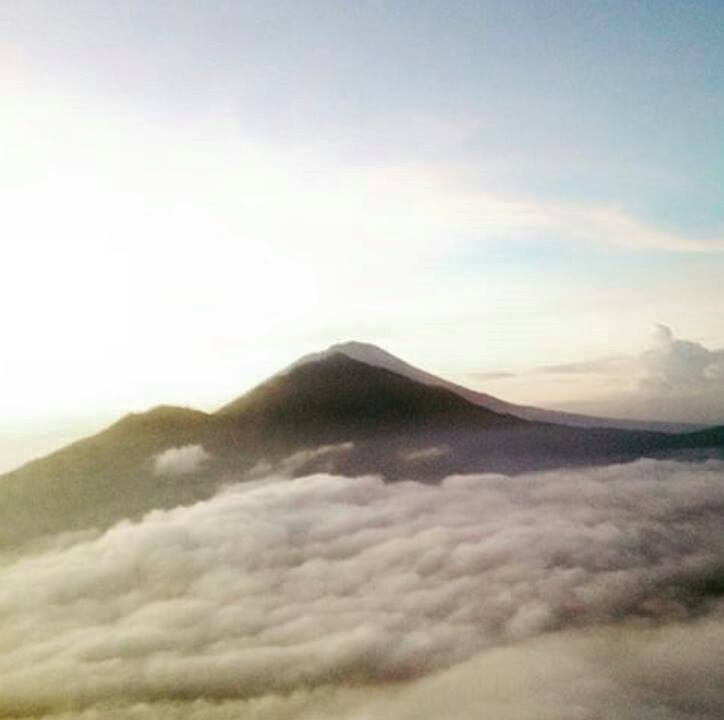Like in the sky when in Mount Batur Bali