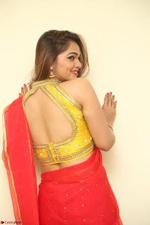 Actress Ashwini in Golden choli Red saree Spicy Pics ~  095.JPG