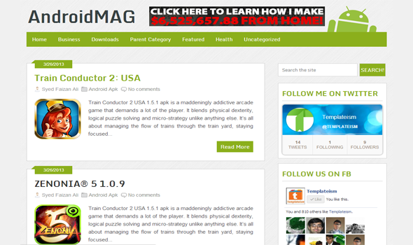 android mag blogger template - blogger template world
