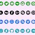 تحميل خط شعارات ورموز مواقع التواصل الإجتماعي الجديد