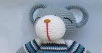 Grey Bear Amigurumi Crochet Pattern : Ours Gris - Patron Crochet Amigurumi gratuit, en francais ...