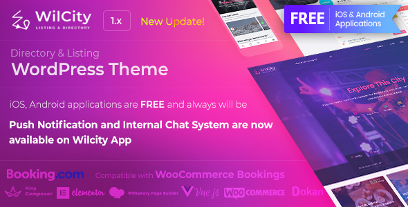 Directory Listing WordPress Theme Free Download Wilcity v1.1.7.2 – Directory Listing WordPress Theme Download