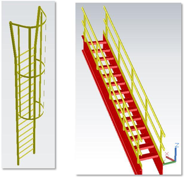 escaleras con AutoCAD Plant 3D