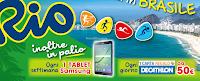 Logo Con AIA vinci buoni Decathlon, Tablet e viaggio a Rio